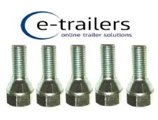 M12 TRAILER WHEEL BOLT 1.5 CONICAL REPLACE F1830ZPK IFOR WILLIAMS 19mm HEAD x5